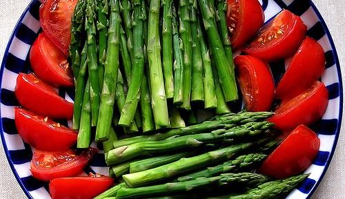 Un buen plato de verduras