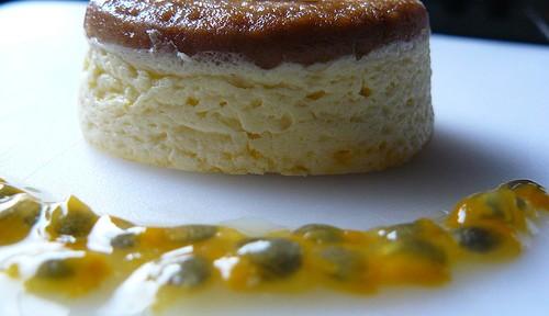 Flan salado con queso