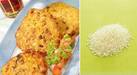 Hamburguesas vegetarianas de arroz