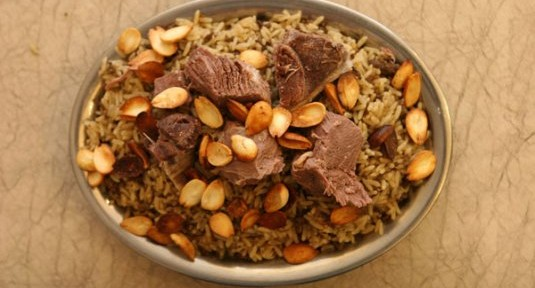 Revuelto de arroz con cordero