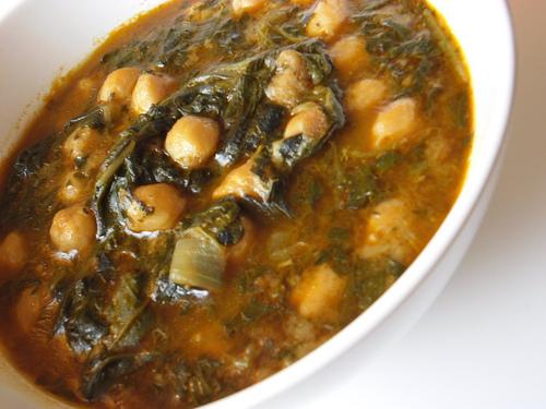 Potaje de garbanzos con espinacas recetas de cocina - Garbanzos espinacas bacalao ...