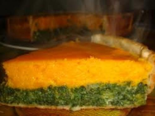 Pastel de calabaza, espinacas y queso de cabra